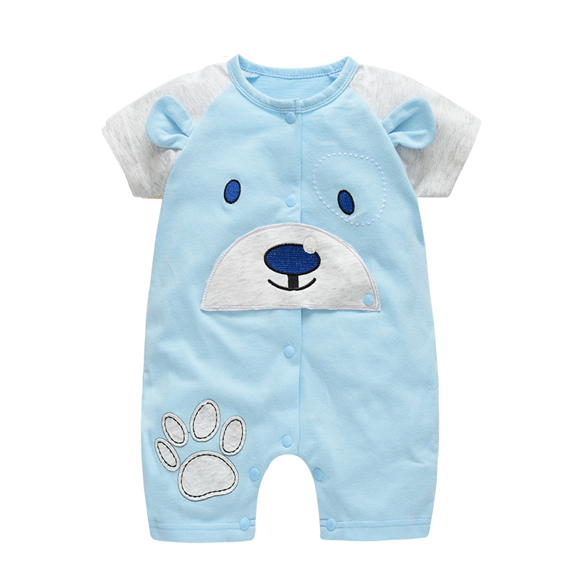 e434cd3ea4af Baby Boy Summer Romper Home Short Sleeve Clothes for Baby Boy 100 ...
