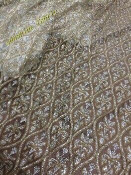 5y/lot pretty design glitter lace fabric shining net glued sugar tulle lace fabric