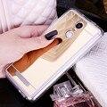 Espejo de lujo case para redmi note 3 tpu soft phone case para xiaomi redmi note 3 pro prime/rojo mi note3 silicona contraportada delgado