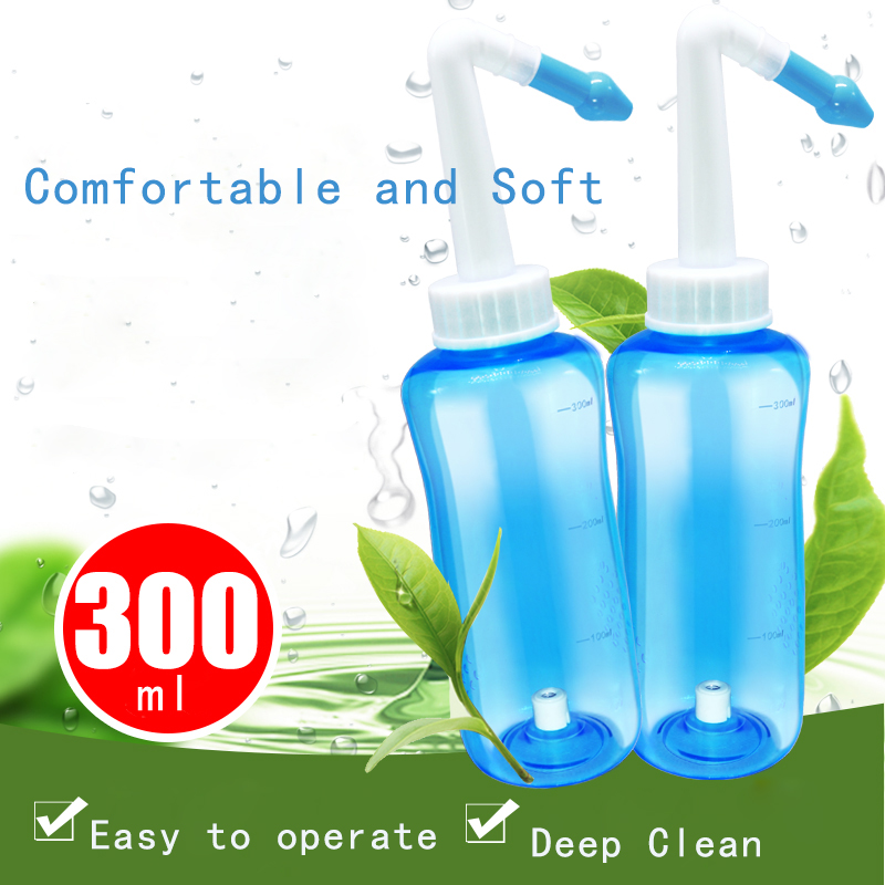 300ml Nose Cleaning Machine Neti Pot Adults Children Nasal Wash Cleansing Sinus Allergies Relief Rinse Cleaning Tools(China)