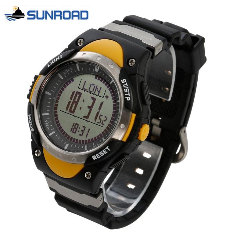 SUNROAD 3ATM Waterproof Digital Watch W/Altimeter Compass Stopwatch Barometer Pedometer Outdoor Multifunction Sport Woman Watch