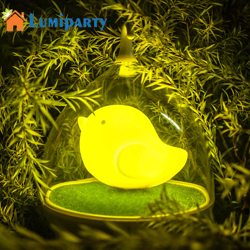LumiParty Bird Cage Night Lights Touch Sensor Vibration Birdcage Night Lamp  USB Rechargeable Table Lamp Kids Baby Outdoor Light