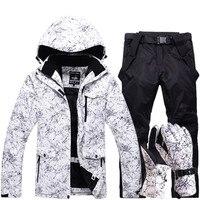 Бесплатная доставка мужские и женские непромокаемые лыжные костюмы Горные лыжи костюм для мужчин утолщенные теплые лыжные куртки + сноубор