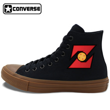 Unisex Skateboarding Shoes Son Goku Dragon Ball Z Converse Chuck Taylor II Canvas Sneakers Black White 2 Colors JH38 03