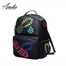 Amelie galanti для женщин рюкзак след аппликации Удобные Заклепки из искусственной кожи Модные женские милые рюкзаки