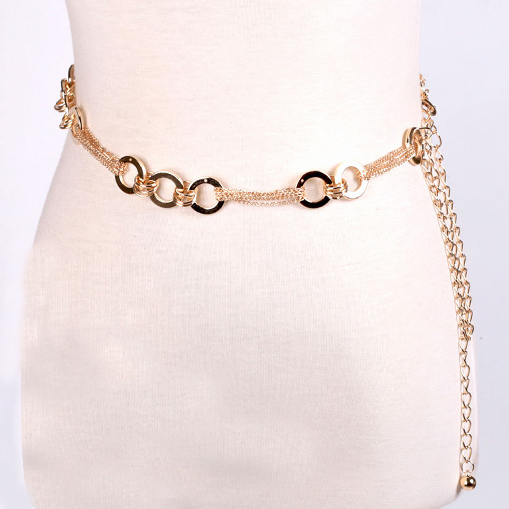 Fashion Ladies Belt Metal Waist Chain Necklace Waist Chain Dual-use Portable Belt Y619