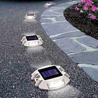 Blanc lumineux 6 LED LED de jardin lumière solaire extérieure étanche jardin Yard mur voie lampe pour allées en plein air