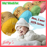 50g Pc 10balls Lot 500g 100 Cotton Baby Knitting Thin Yarn Hand Knitted Yarn Baby Soft