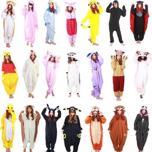 2e9da296414 New Cosplay Costumes Woman Man Pink panther Rabbit Parrot Hedgehog  Superhero Pajamas Onesies Polar fleece Halloween