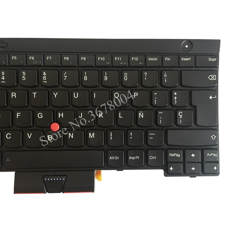 NEW SP laptop keyboard FOR LENOVO THINKPAD T530 T530i T430 T430s X230 W530  L430 L530 Spanish keyboard black 04X1325
