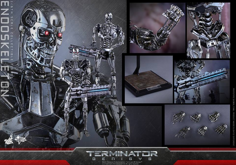 Toys & Hobbies New Original Ht Hottoys Mms352 1/6 Terminator 5 Endoskeleton Collection Action Figure For Fans Holiday Gift Good For Antipyretic And Throat Soother