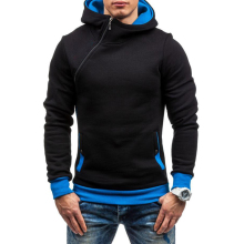 Fashion Hoodies Men Sudaderas Hombre Hip Hop Mens Brand Solid hooded zipper Hoodie