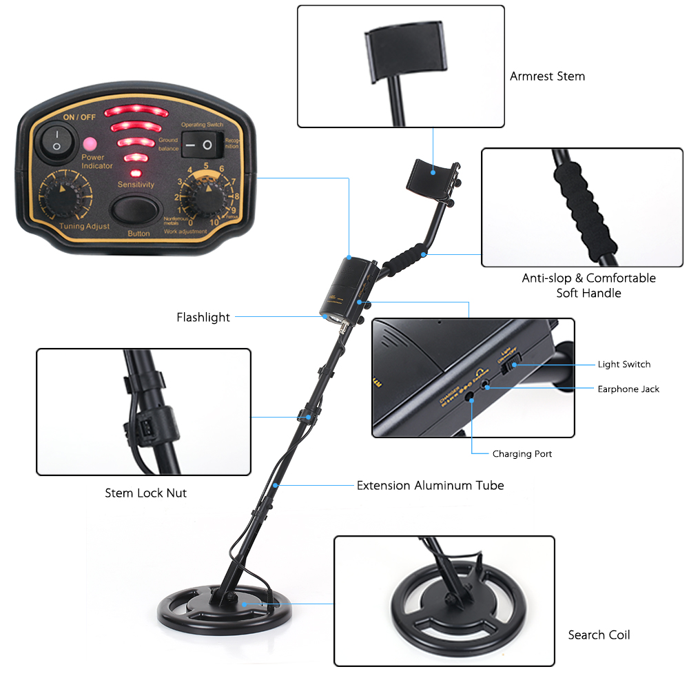 SMART SENSOR AR944M Professional Underground Metal Detector Lightweight High Sensitivity Ground Nugget Detector 100-240V smart sensor ar944 underground metal detector fast shipping