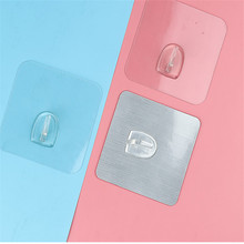 Anti-skid Hooks Wall Home Bathroom Hangers Hook Power Socket Holder For 6*6 Reusable Traceless