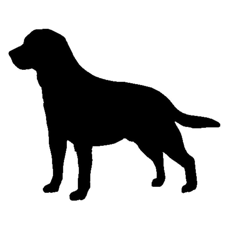 все цены на 15.5*12.7CM Labrador Retriever Dog Heart Vinyl Decal Silhouette Car Stickers Car Styling Truck Accessories Black/Silver S1-1118