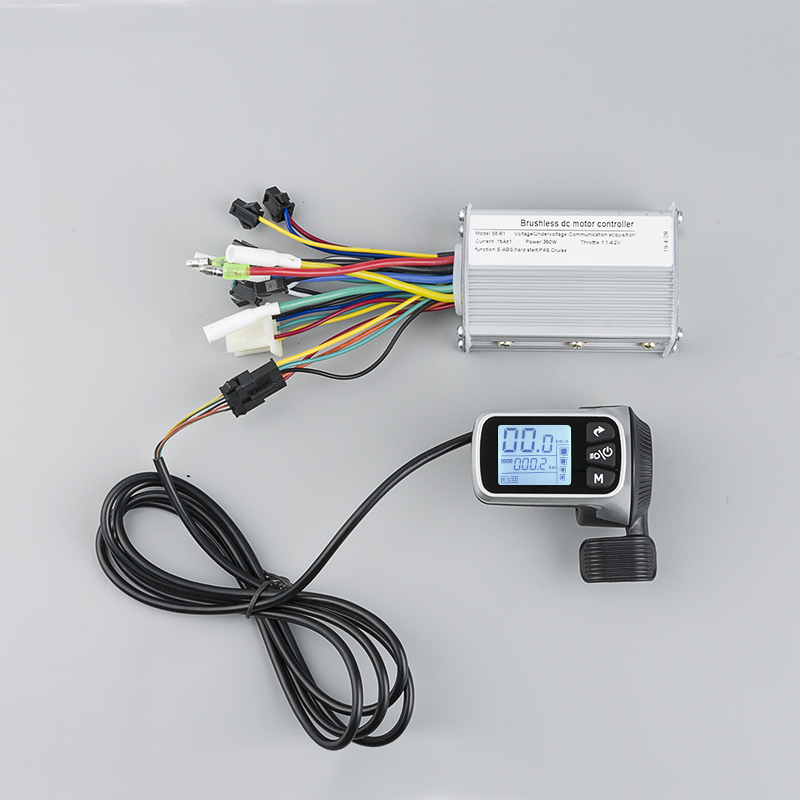 <font><b>250W</b></font> 350W 500W 24V 36V 48V Dual Mode Brushless Motor Controller with LCD throttle For <font><b>Electric</b></font> Bicycle Tricycle Ebike e <font><b>Scooter</b></font> image