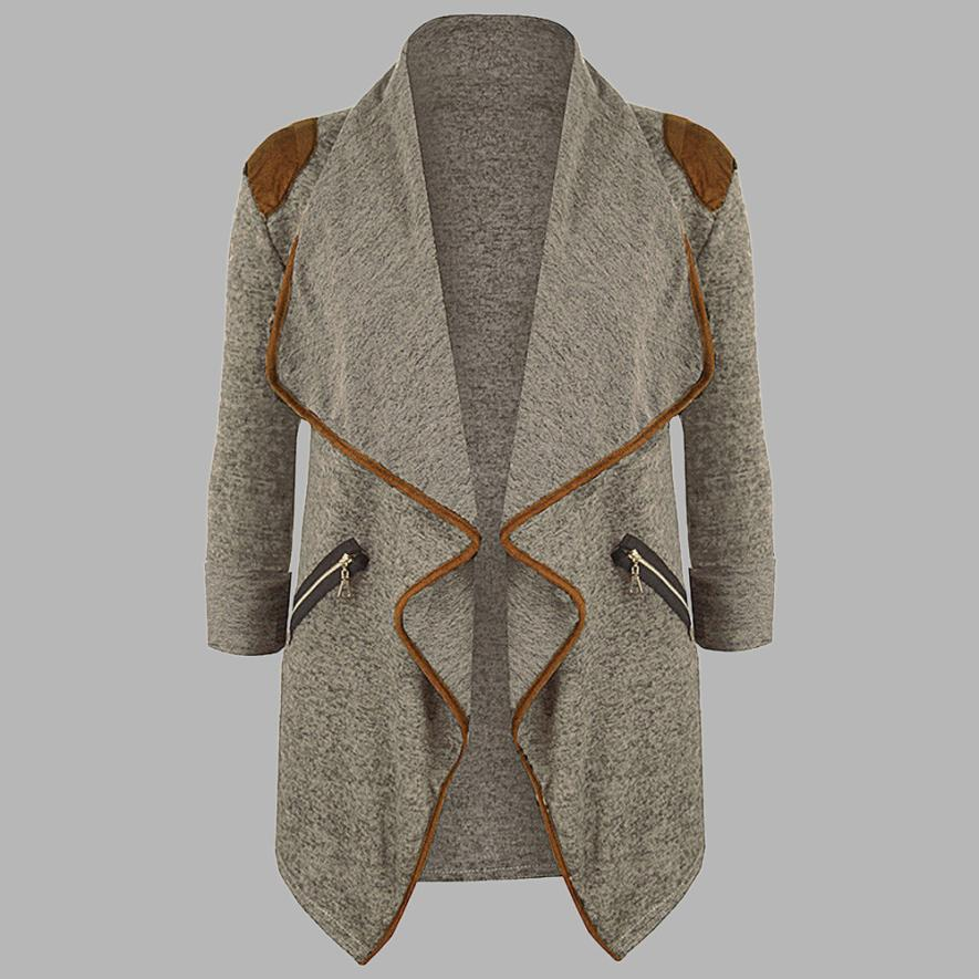 Womens Outerwear Spring  Autumn coat  Knitted Casual Long Sleeve Tops Cardigan Jacket Outwear Plus Size M-3XL 18July4 1