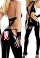 2016 New Faux Patent Leather Sexy Dancer Costume Disco Nightclub Pole Dance Sex Costumes Dress Free Shipping