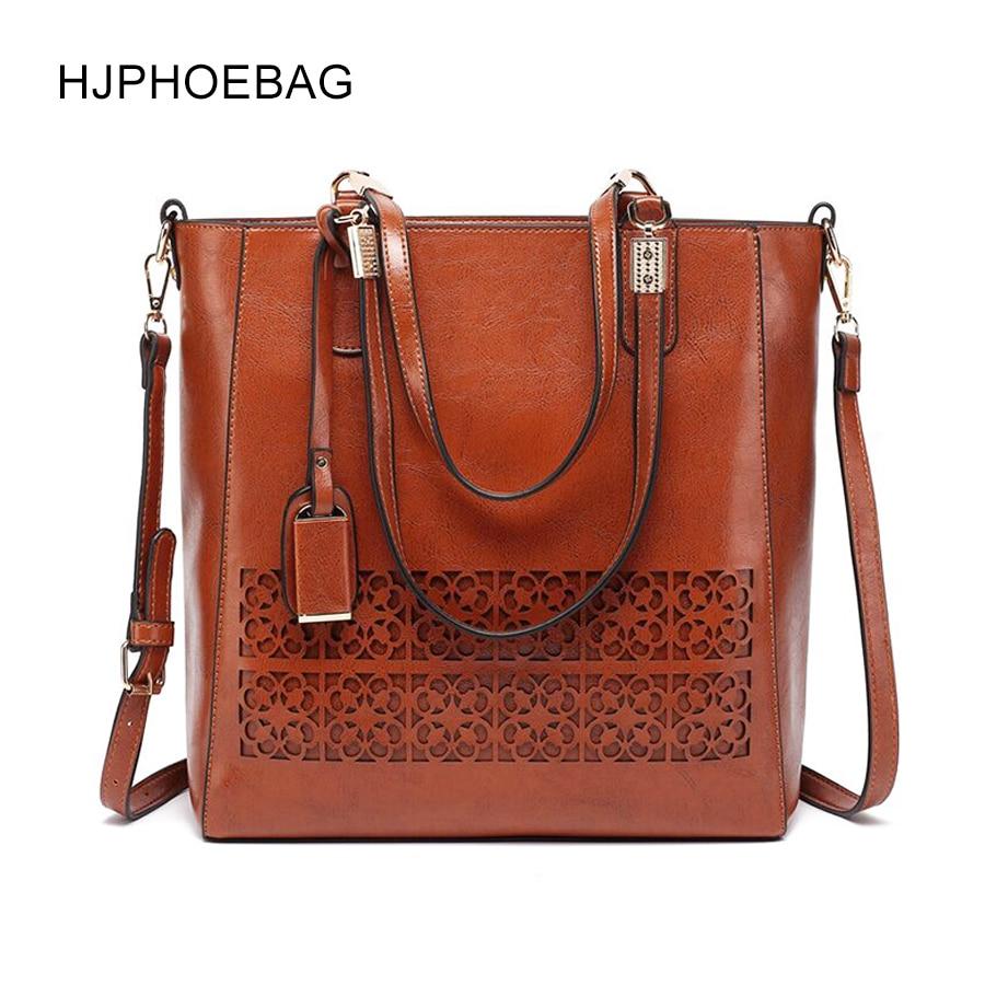 Buy HJPHOEBAG  New women's shoulder bag retro Pu leather Messenger bag hollow ladies bag oily multi-color women's handbag  YC022 for only 34 USD