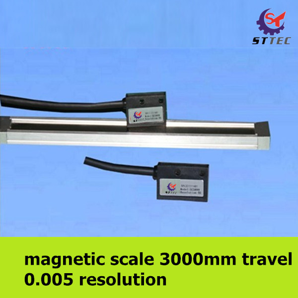 Free shipping high precision 0 005mm 3 meter 3000mm magnetic linear scale ruler sensor encoder