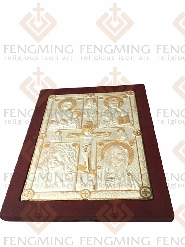 Charming Byzantine art religious art cross crucifix and four jesus - Home Decor - Photo 2