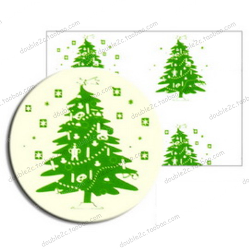 Us 799 20 Offchristmas Chocolate Transfer Sheet10pcs Christmas Tree Transfer Chocolate Sheetsbaking Pastry Toolschocolate Tools In Baking