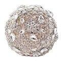 Рамо Де Novia Новый Роскошный Кристалл Искусственный Букет Пункт Невесты Полный Diamond Crystal Свадебные Цветы Свадебные Douquets