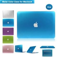 Luxury Metallic Blue Case for Macbook air 13.3 Laptop Sleeve Case Ultra Slim Cover for Apple Macbook 13.3inch Air /Rro/Retina