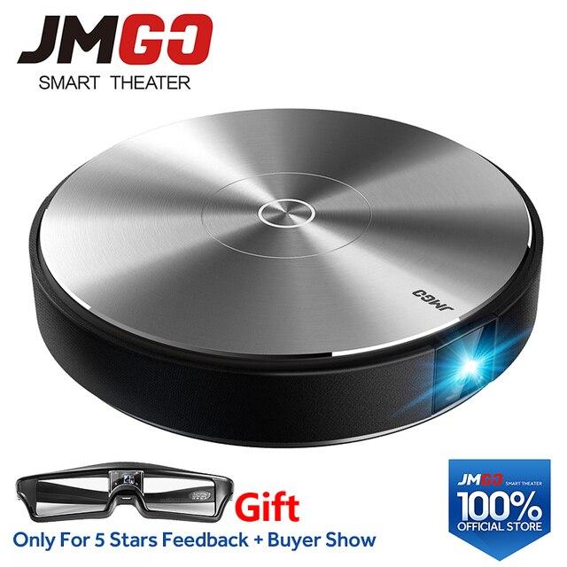 MÁY CHIẾU JMGO N7L Full HD 1920*1080 P, 700 ANSI Lumens. Thông minh Máy Cân Bằng Laser 1 Rạp Hát Tại Nhà. Hỗ trợ 4 K, WIFI/Bluetooth