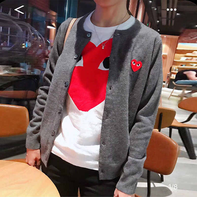 korean Style Autumn Sweater Women Fashion Long Sleeve Female Cardigan Plus size Ladies Sweater Red Heart Embroidery Coat SS43