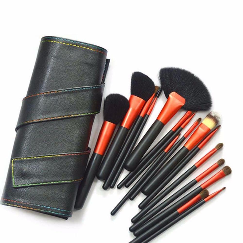 16Pcs Makeup Tool Kits Foundation Brush Set Professional Animal Hair Makeup Brush Set With Brush Bag Hot Selling