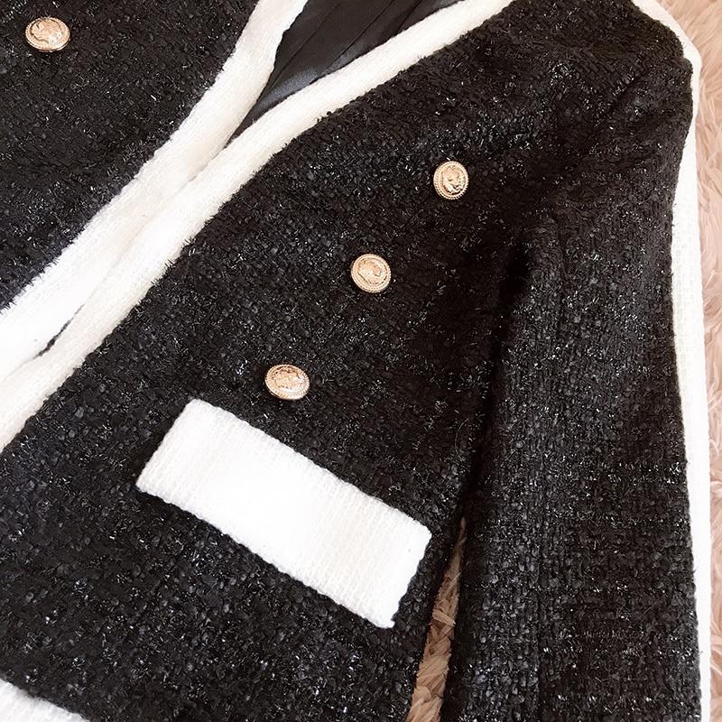 Femmes Qualité Designer Set Boutons Hiver Haute Nouveau 2018 Costume Shorts Ensemble Blazer Automne Veste De Bloc Lion Tweed Style Couleur oeCxBd