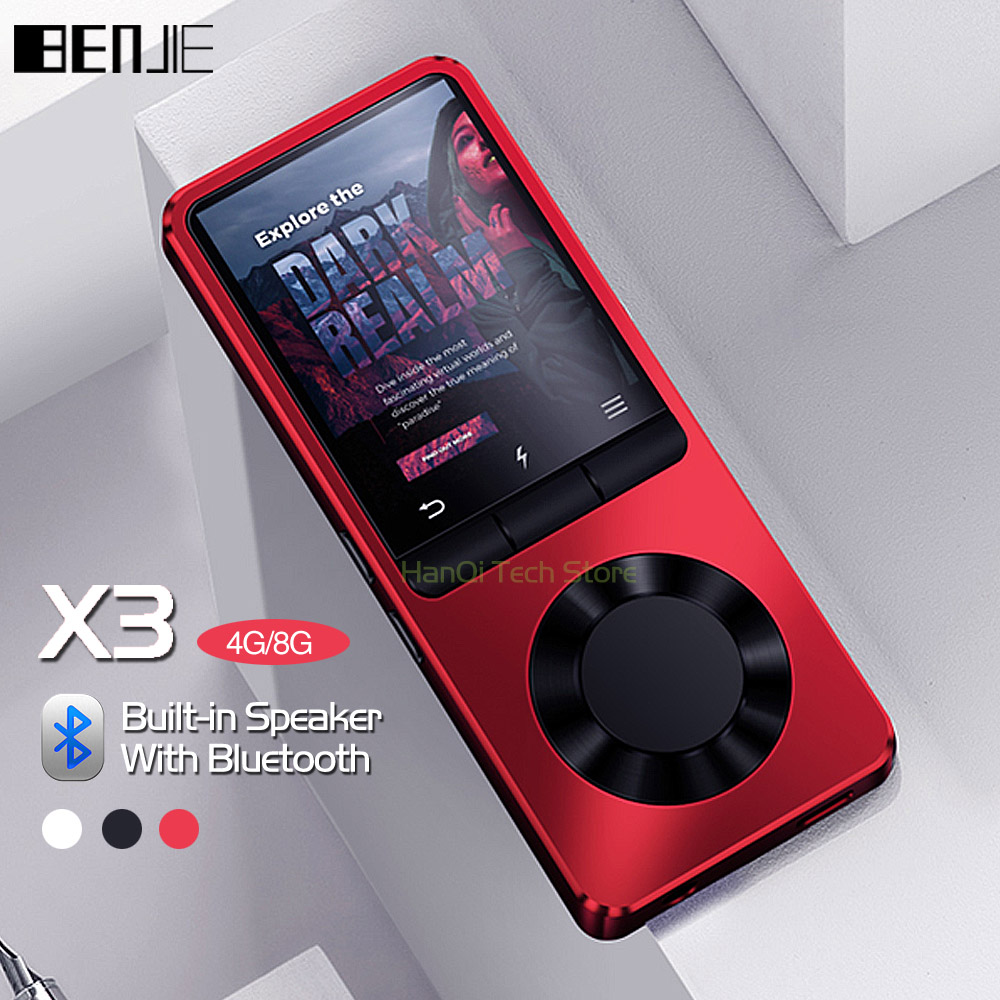 BENJIE X3 Metall Bluetooth MP3 Player Portable Audio 4 gb 8 gb Musik-Player mit Eingebauter Lautsprecher FM Radio, recorder, E-buch, Uhr