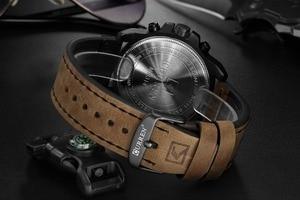 Image 4 - CURREN Mens Watches Top Luxury Brand Waterproof Sport Wrist Watch Chronograph Quartz Military Genuine Leather Relogio Masculino