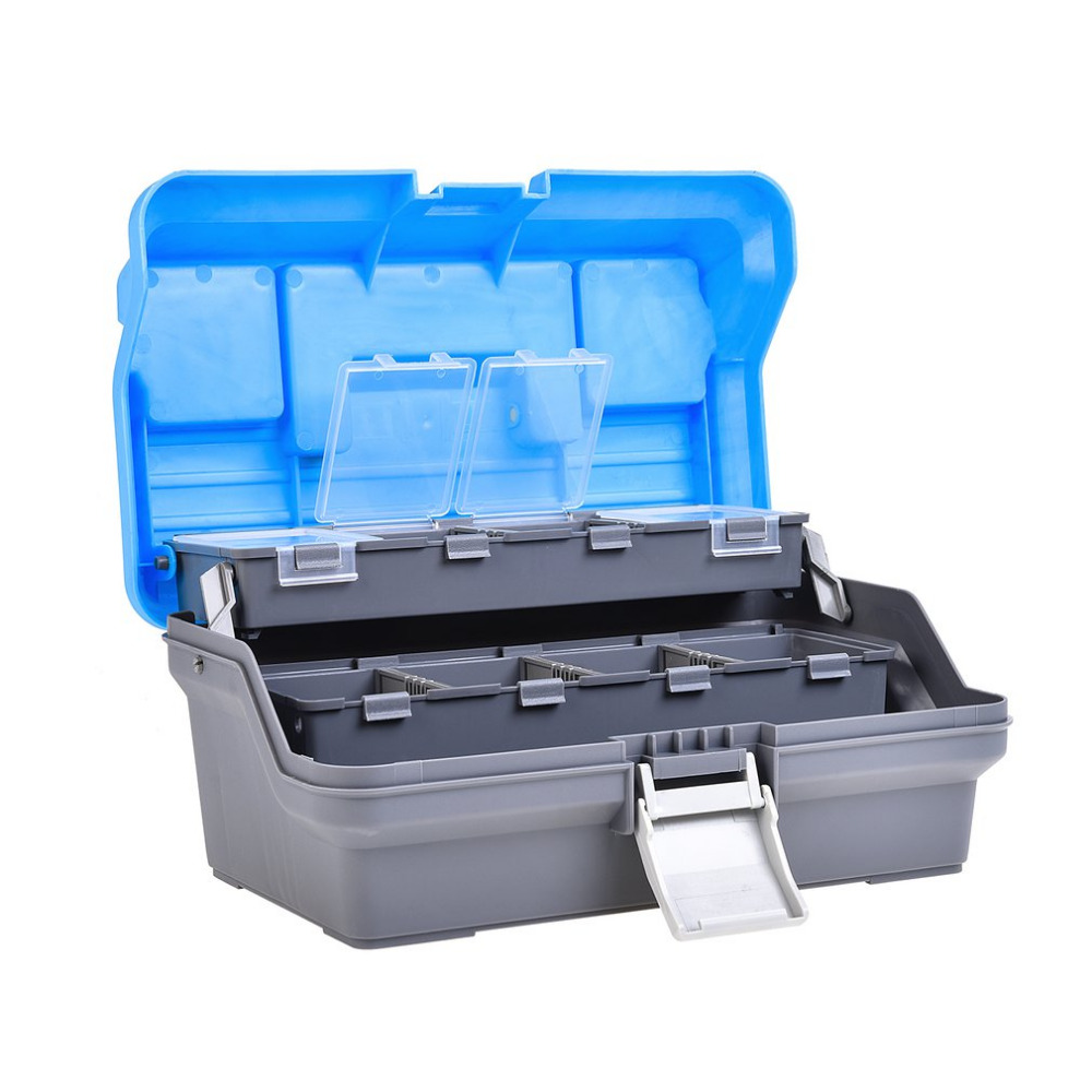 Portable Fishing Box Multi-Layer Fish Lures Container Box Durable Fishing Tackle Storage Case 3 Layer Plastic Case Organizer