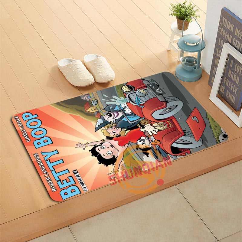 Personalizado betty boop capacho tapetes de banho pé almofada casa decoração tapetes do banheiro tapete porta a320 #12