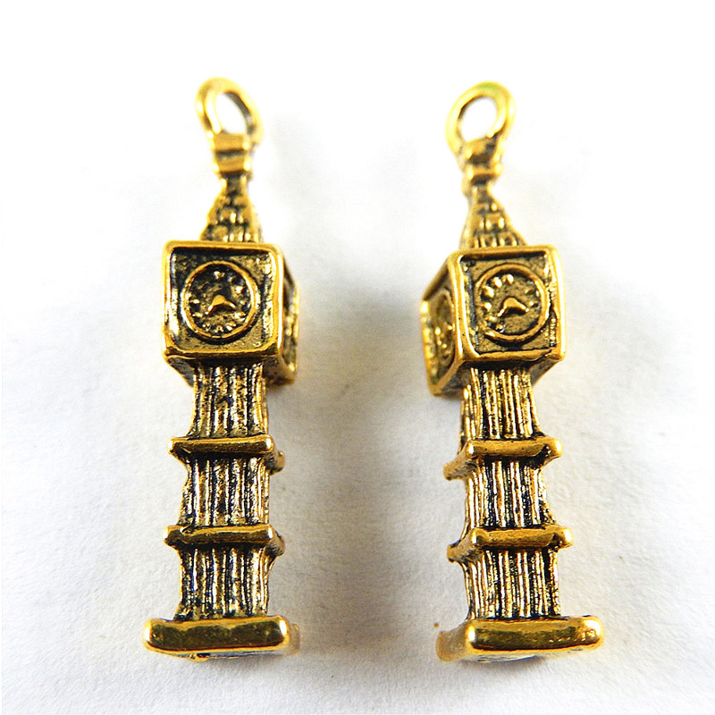 Latest Collection Of Bulk 30 Zinc Alloy 3d British London Big Ben Charms For Jewerly Making 17*6mm 2.5g Jewelry Sets & More