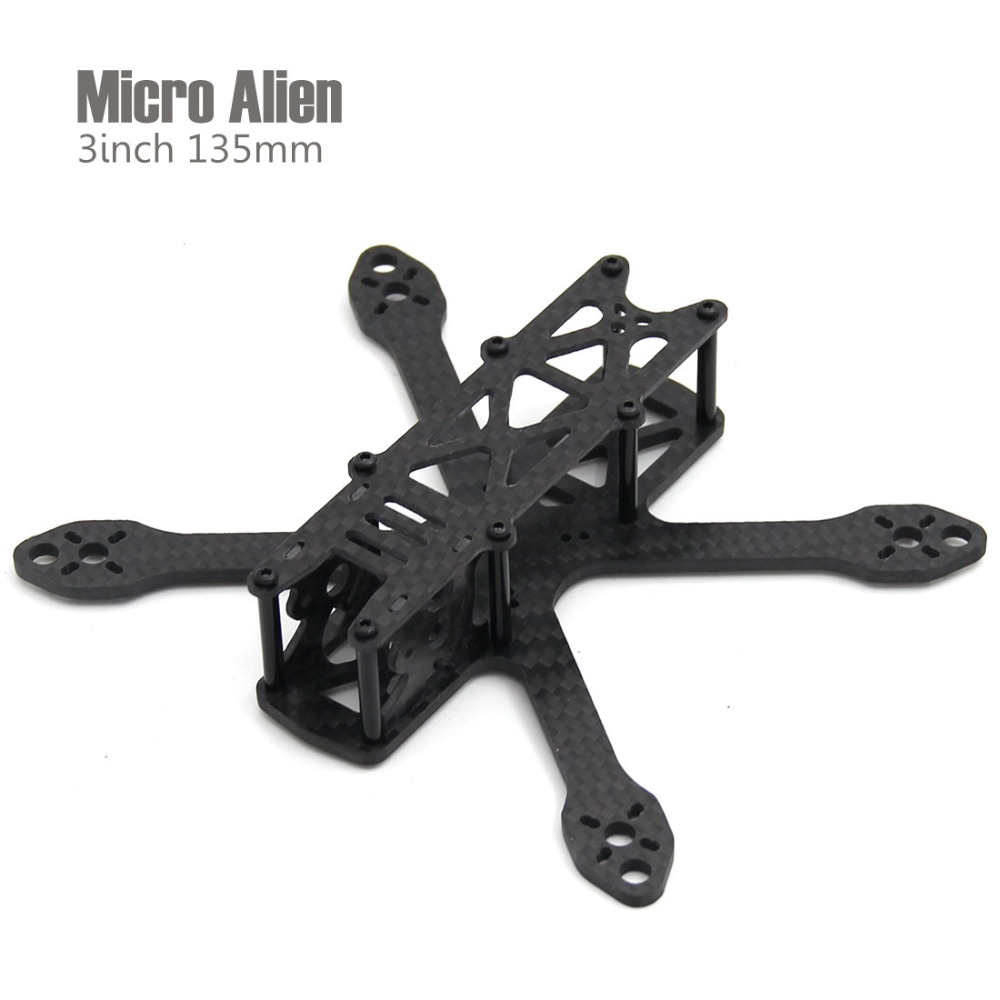 Micro Alien 3inch 135mm one plate bottom mini quadcopter frame drone Micro Alien 3inch 135mm one plate bottom mini quadcopter frame drone