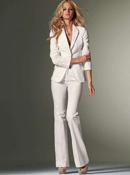 83aea2143 2015 recién llegado de la venta caliente blanco mujer trajes ( jacket +  pants ) mujer