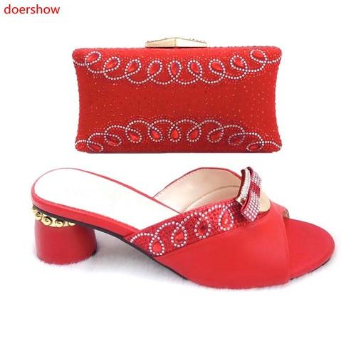 Sets rosa Schwarzes blau Afrikanische Mit Passenden Schuhe Schuhe silber Doershow Farbe rot 2 Tasche Rot Slm1 Taschen Frauen Italienische Party Set Italien gelb Und UqgHF7w