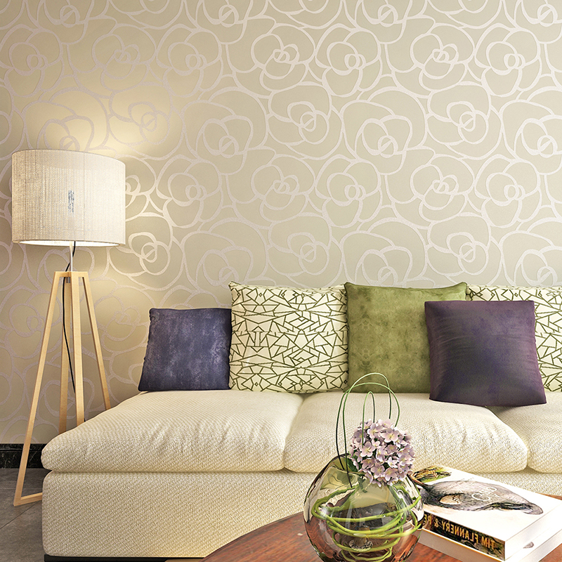 цены Home Decor Improvement 3D Floral Waterproof PVC Foaming Wallpaper for walls Bedroom Living Room desktop papel de parede QZ0258
