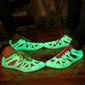 2017 Испуская светящиеся светятся в темноте обувь мужчин и Унисекс кроссовки для взрослых летом Флуоресценции болотных обуви