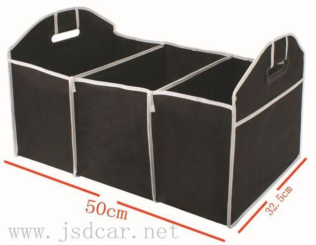 Não-tecido Dobrável Preto sacos de supermercado saco luva mala do carro caixa de acabamento caixa de armazenamento de Veículo ferramenta
