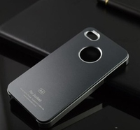 Wholesale Fashion Matte Metal Air Jacket Back Cover Case For IPhone4 4S Colorful Matting Metal Case
