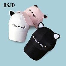 Snapback Cute Cat Ears Pink Adult Net Baseball Cap Summer Wo
