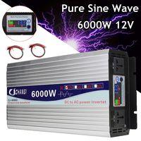 Intelligent Screen Pure Sine Wave Power Inverter 12V/24V To 220V 3000W/4000W/5000W/6000W Converter Adapter LCD Screen