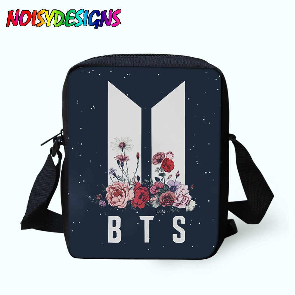 8a63df8108 Messenger Bags Small BTS Kpop Bag School bag for Male zipper Crossbody Bags  Kids Boys Girls