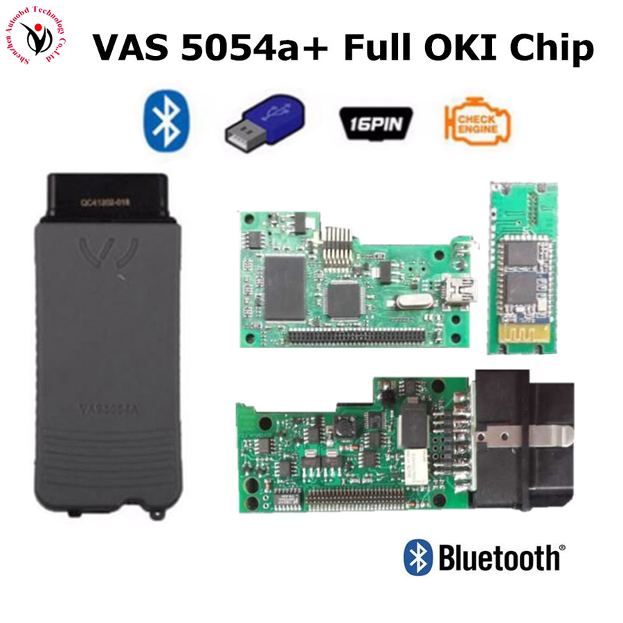 DHL Freeship VAS5054a with Original Full Oki Chip For Audi/VW/SEAT/SKODA Diagnostic Scanner VAS 5054A Bluetooth With ODIS V3.0.3 dhl freeship vd tcs cdp single board multidiag pro with bluetooth 2014 r2 keygen 8 car cable car truck generic diagnostic tool
