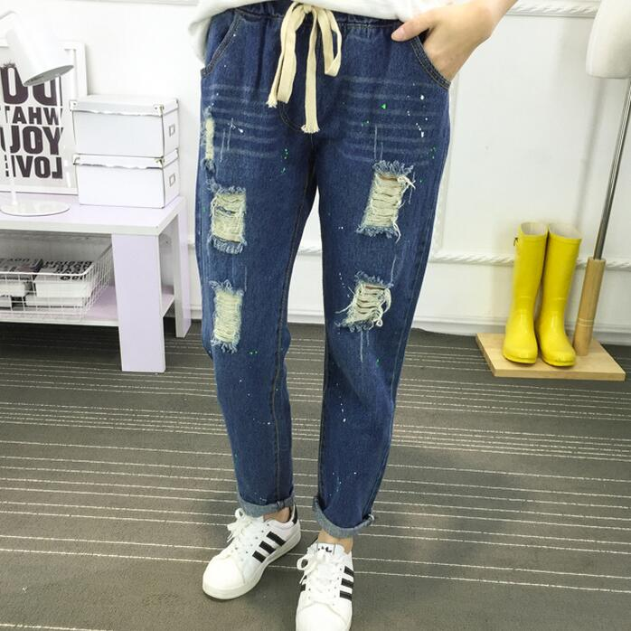 Cheap wholesale 2017 new Autumn Winter Hot sale women's fashion casual student school loose hole nine minutes cute popular jeans aliexpress 2016 summer new european and american youth popular hot sale men slim casual denim shorts cheap wholesale