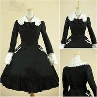 History!Customer made Black Sweet Lolita Dress Short Sleeves Knee skirt Dress Cosplay dress Victorian dress V 921